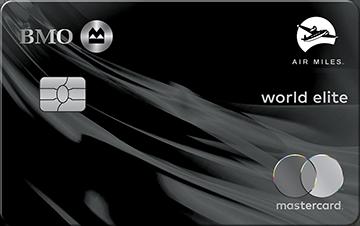 Carte Mastercard BMO AIR MILES World Elite