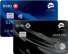 BMO AIR MILES Mastercard and BMO AIR MILES World Elite Mastercard credit cards