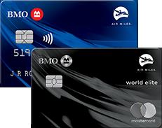 Cartes de crédit Mastercard BMO AIR MILES et Mastercard BMO AIR MILES World Elite